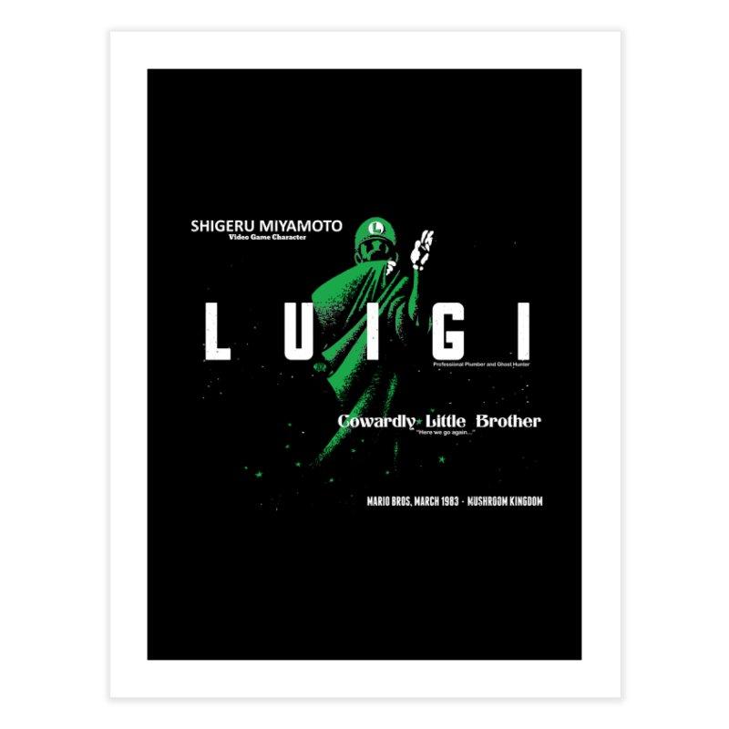 Luigi Ouija Home Fine Art Print by JCP Designs - Original Designs by Jacob C. Paul