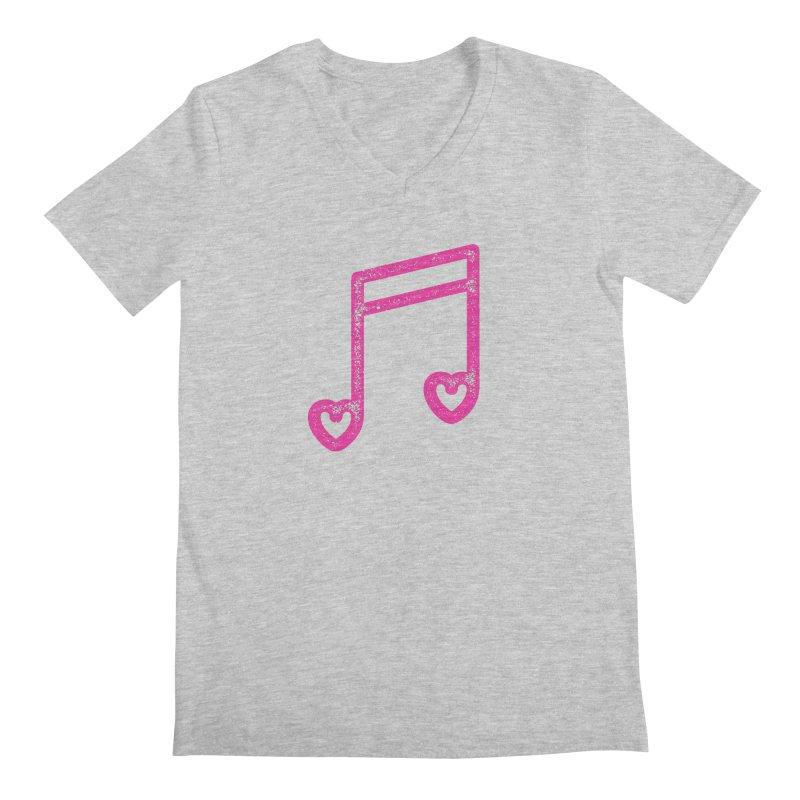 Music Lover Men's Regular V-Neck by Jacob Patrick