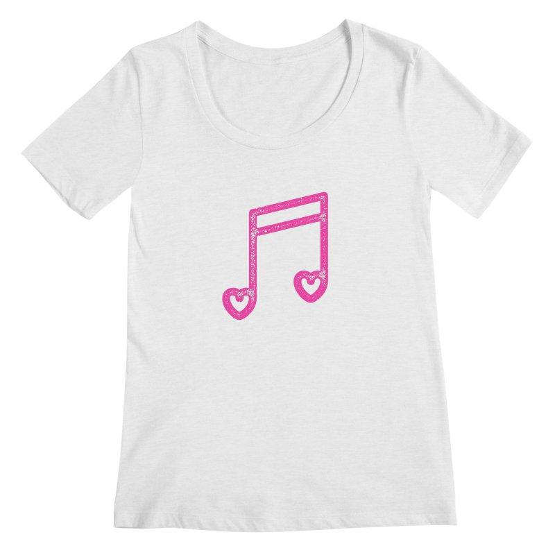 Music Lover Women's Regular Scoop Neck by Jacob Patrick