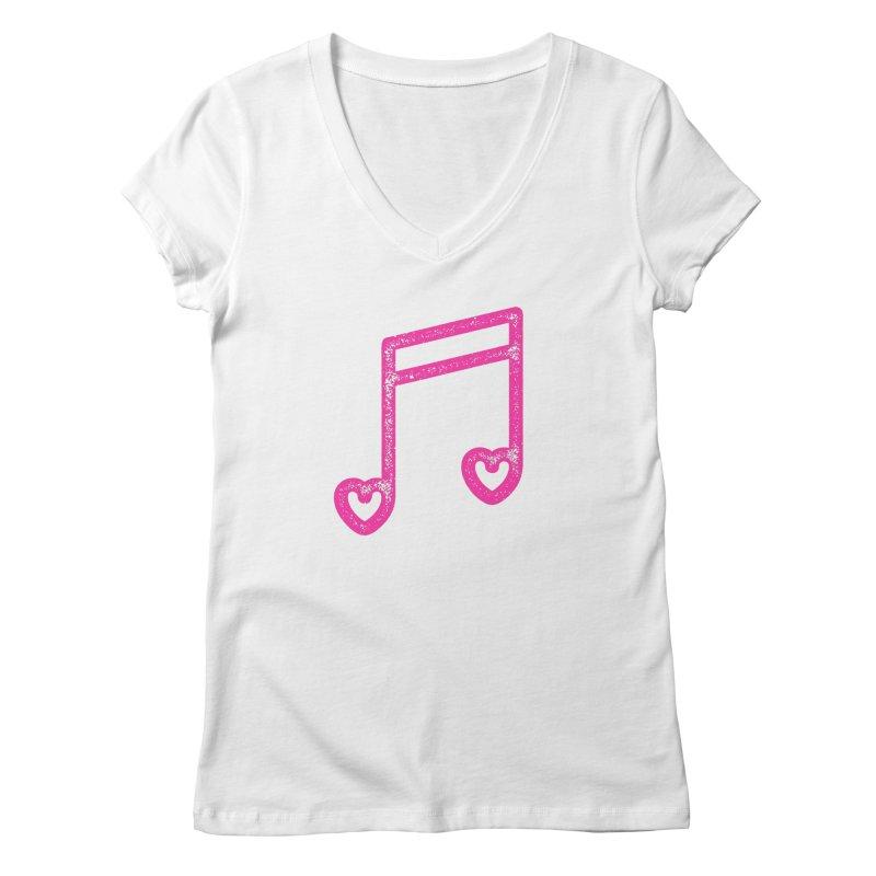 Music Lover Women's Regular V-Neck by Jacob Patrick
