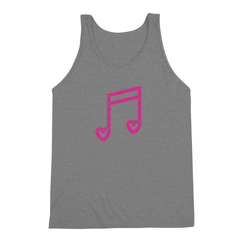 Music Lover Men's Triblend Tank by Jacob Patrick