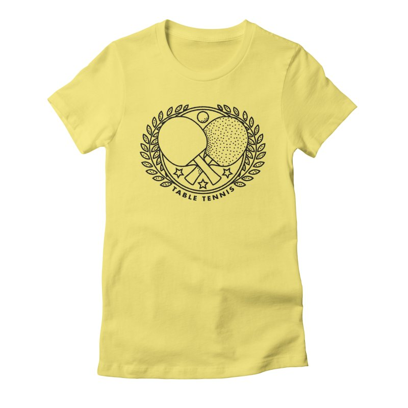 Table Tennis Women's Fitted T-Shirt by Jacob Patrick