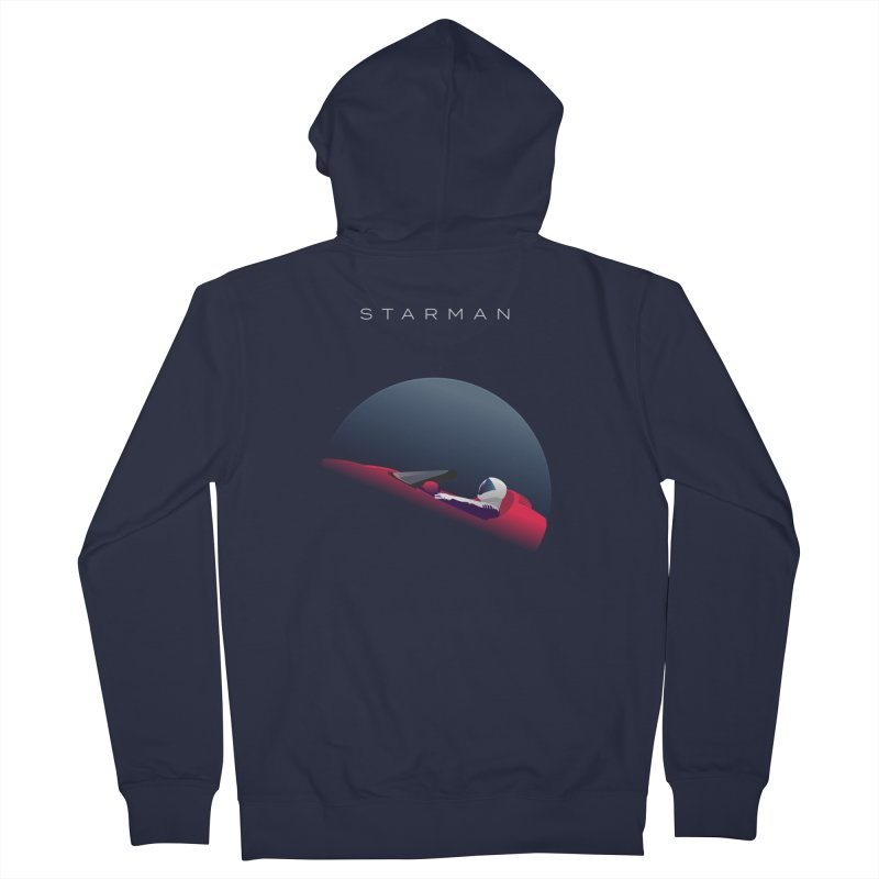 Starman in Men's Zip-Up Hoody Navy by Jacobs Design