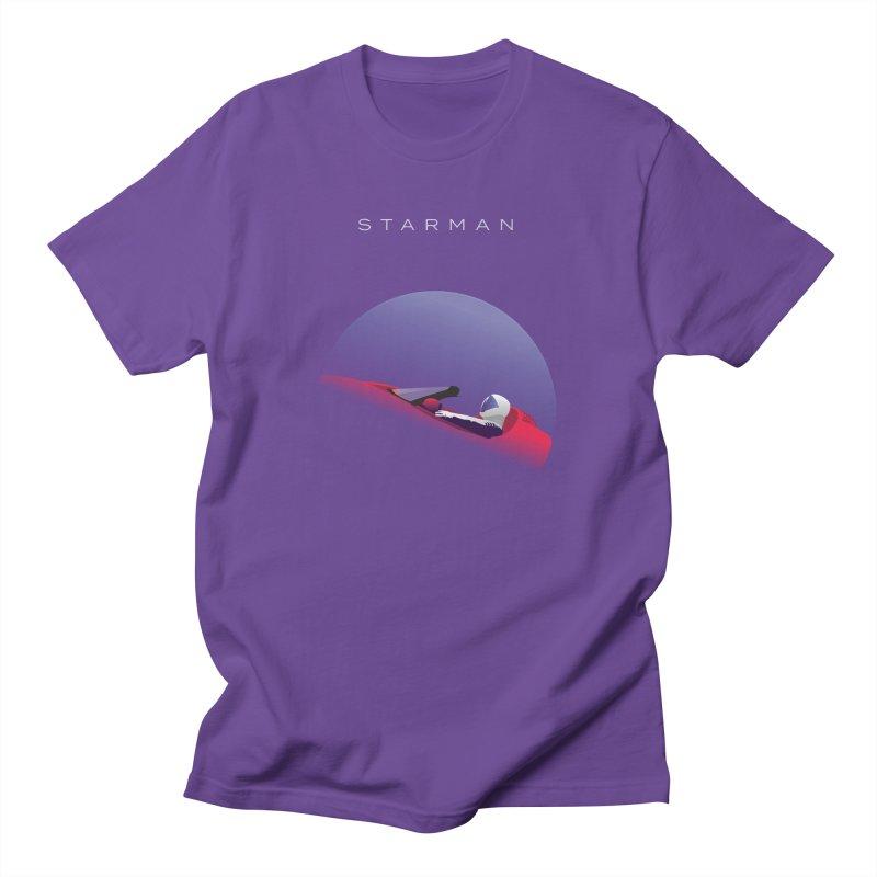 Starman in Men's Regular T-Shirt Purple by Jacobs Design
