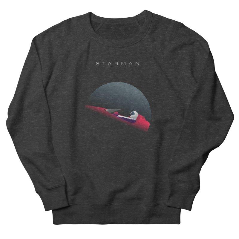 Starman in Men's French Terry Sweatshirt Smoke by Jacobs Design