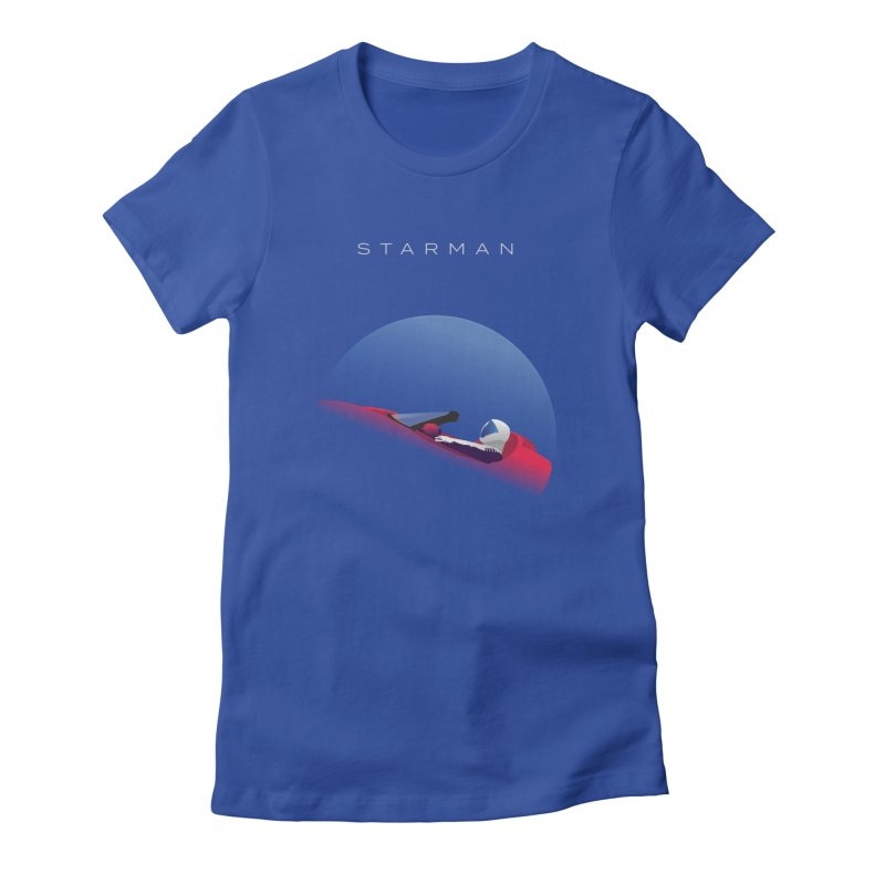 Starman in Women's Fitted T-Shirt Royal Blue by Jacobs Design