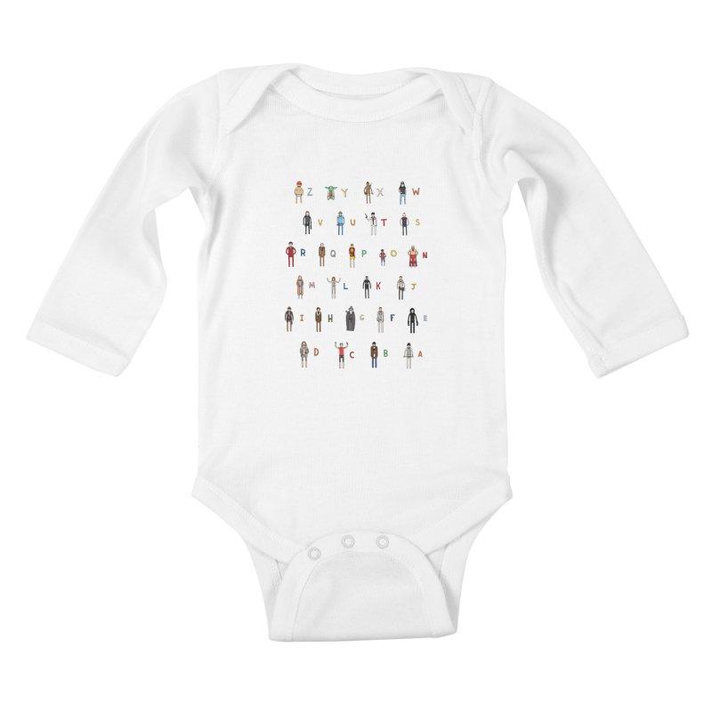Z-A Kids Baby Longsleeve Bodysuit by jacohaasbroek's Artist Shop