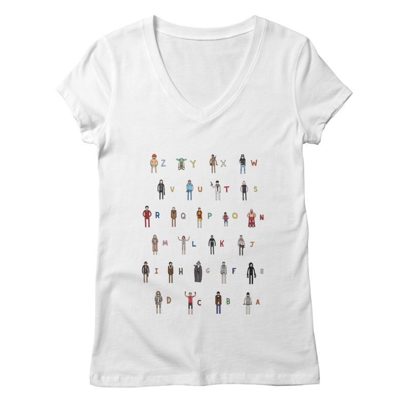 Z-A Women's V-Neck by jacohaasbroek's Artist Shop