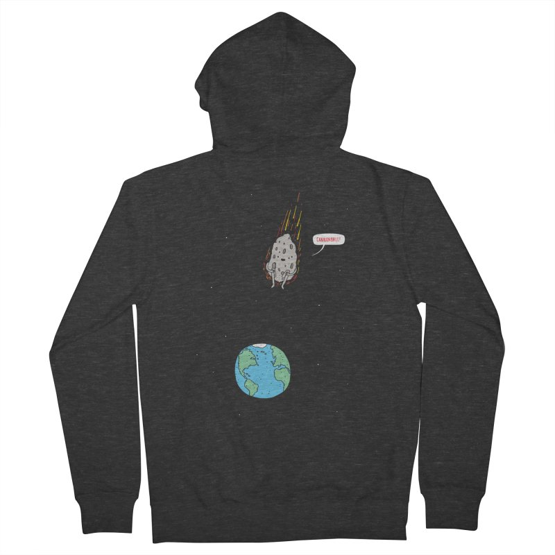 Cannonball! Women's French Terry Zip-Up Hoody by Haasbroek's Artist Shop