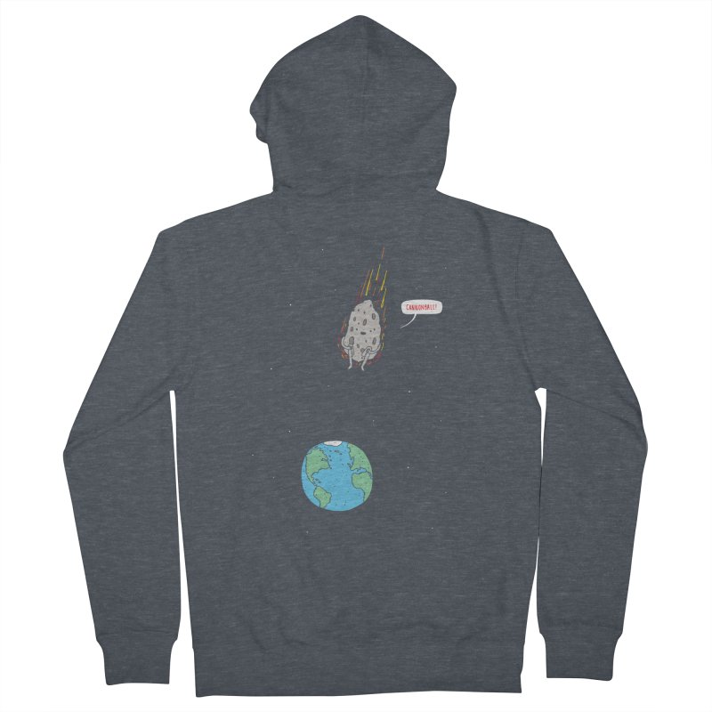 Cannonball! Men's French Terry Zip-Up Hoody by Haasbroek's Artist Shop