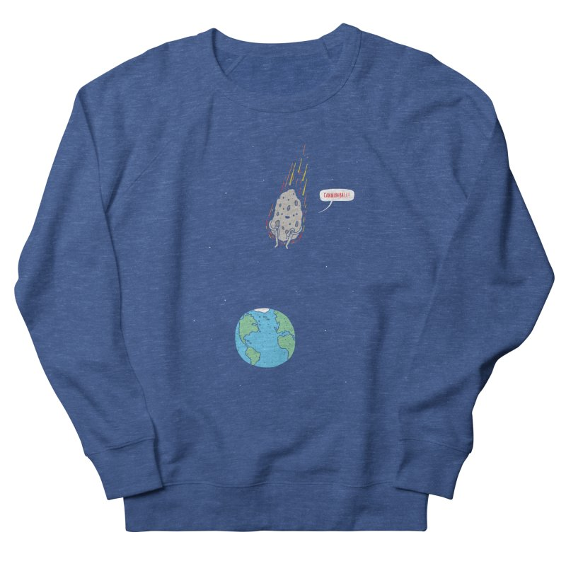 Cannonball! Women's French Terry Sweatshirt by jacohaasbroek's Artist Shop