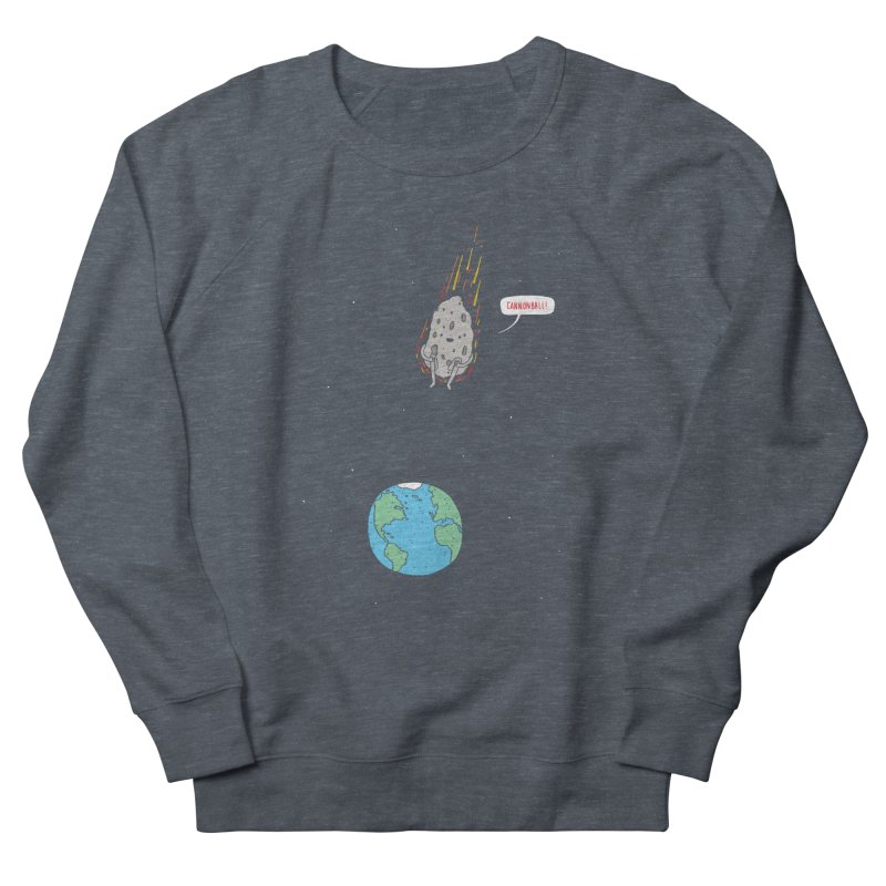 Cannonball! Men's French Terry Sweatshirt by Haasbroek's Artist Shop