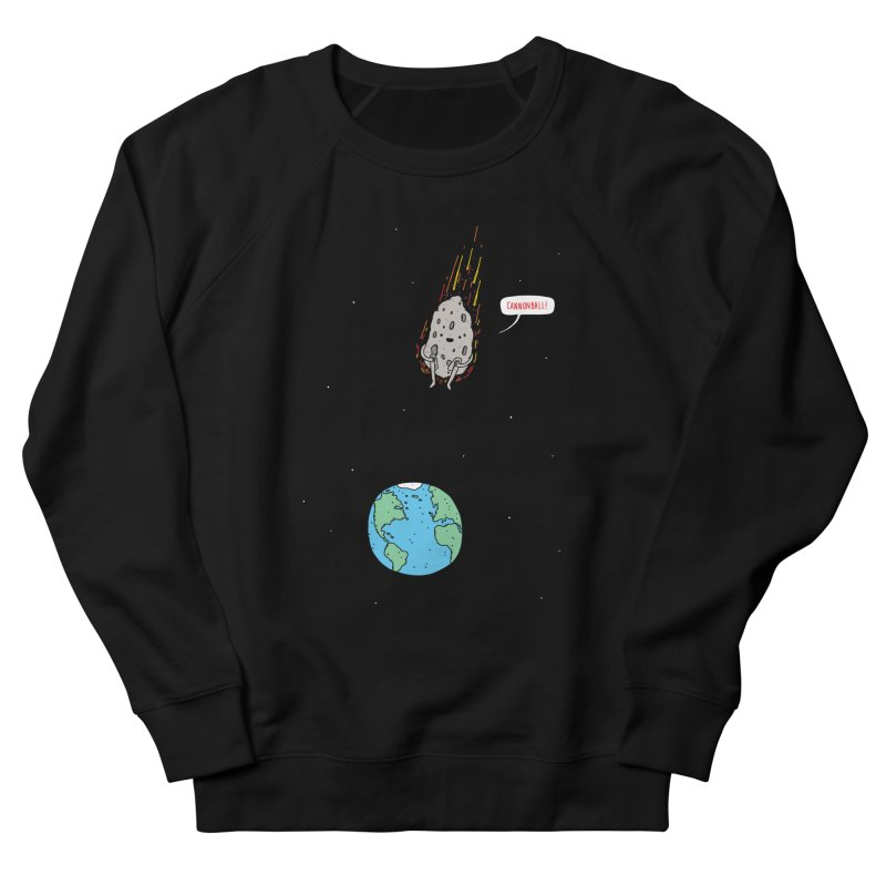 Cannonball! Men's French Terry Sweatshirt by Haasbroek's Artist Shop