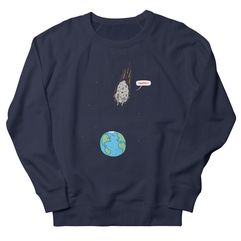 Cannonball! Men's French Terry Sweatshirt by jacohaasbroek's Artist Shop