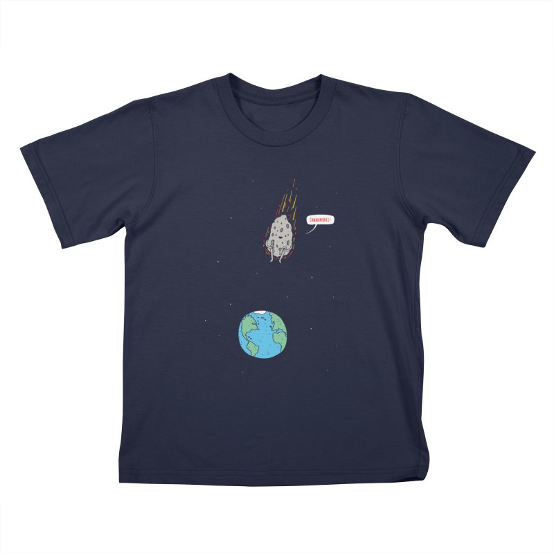 Cannonball! Kids T-Shirt by Haasbroek's Artist Shop