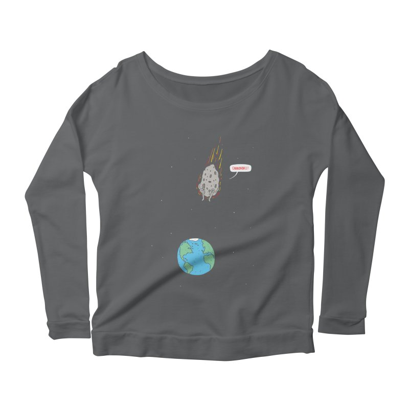 Cannonball! Women's Longsleeve Scoopneck  by jacohaasbroek's Artist Shop