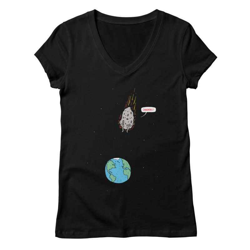 Cannonball! Women's V-Neck by jacohaasbroek's Artist Shop