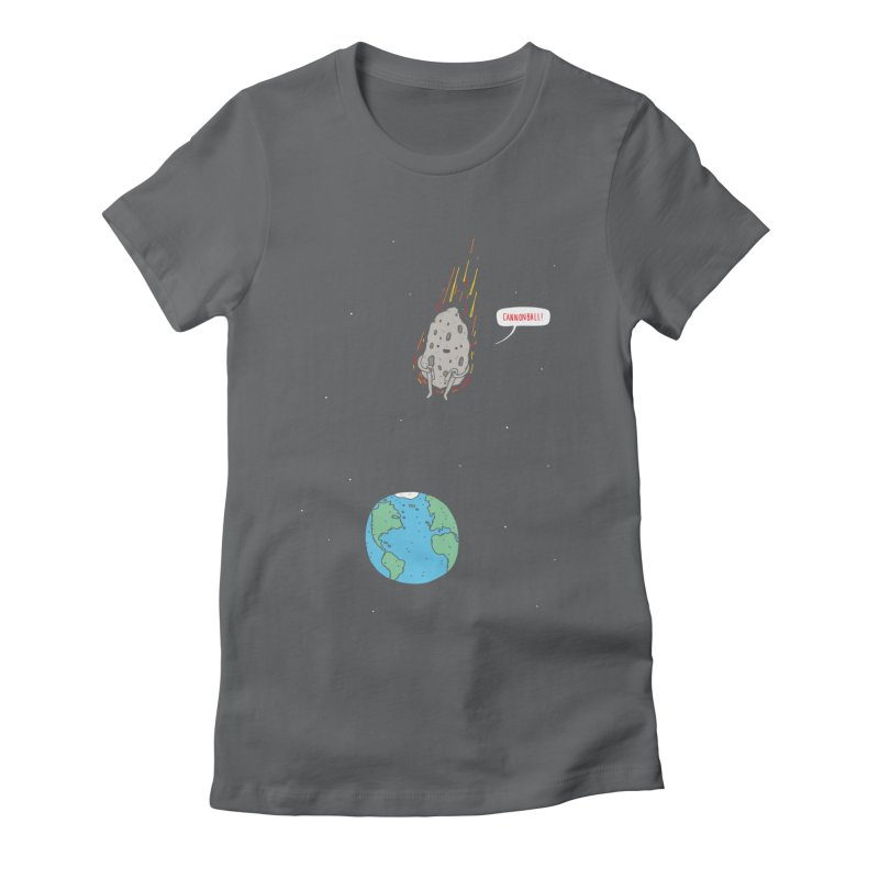 Cannonball! Women's Fitted T-Shirt by Haasbroek's Artist Shop