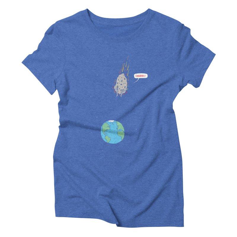 Cannonball! Women's Triblend T-shirt by jacohaasbroek's Artist Shop