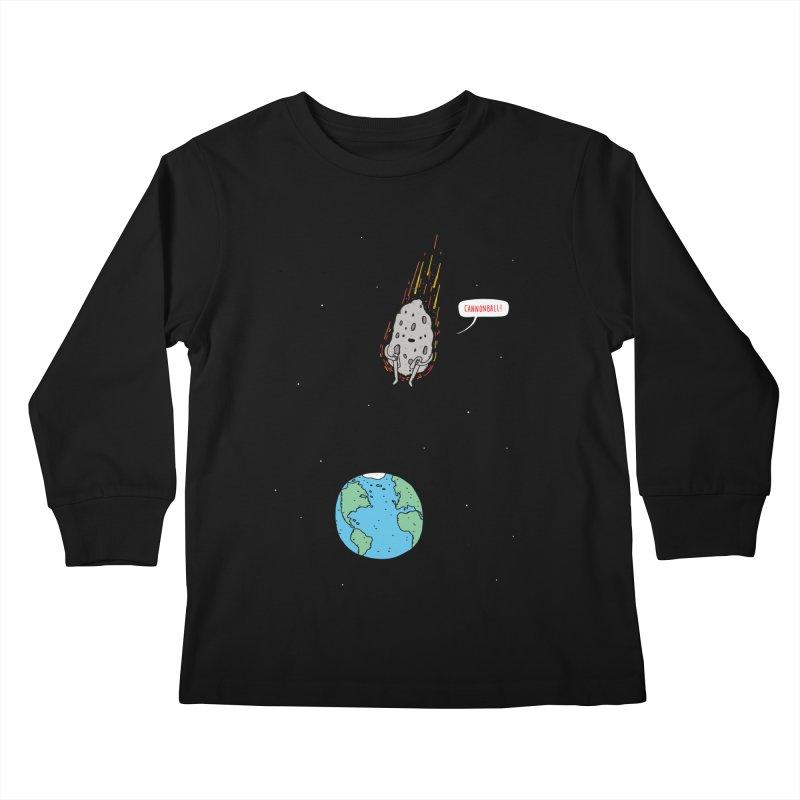 Cannonball! Kids Longsleeve T-Shirt by Haasbroek's Artist Shop