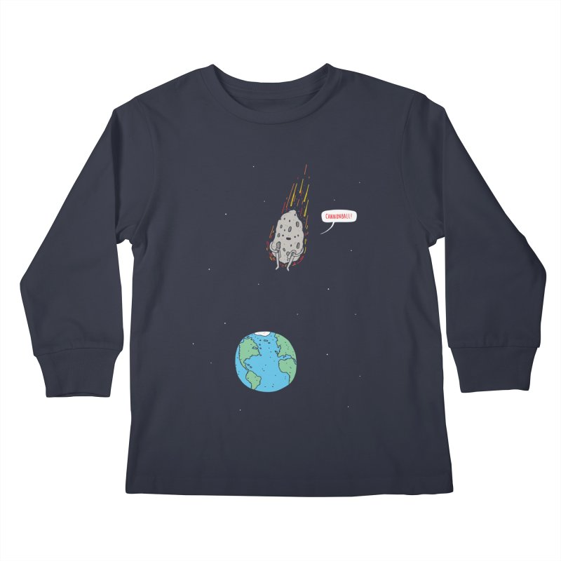 Cannonball! Kids Longsleeve T-Shirt by Haasbroek's Artist Shop