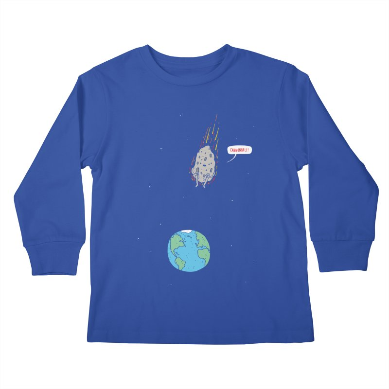 Cannonball! Kids Longsleeve T-Shirt by jacohaasbroek's Artist Shop