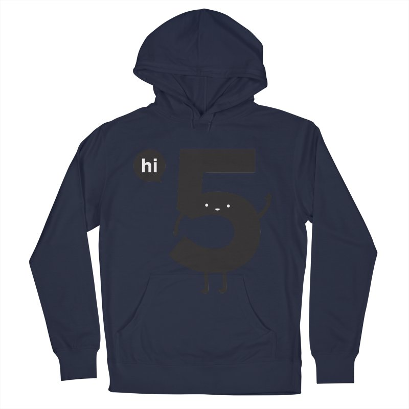 Hi 5 Women's French Terry Pullover Hoody by Haasbroek's Artist Shop