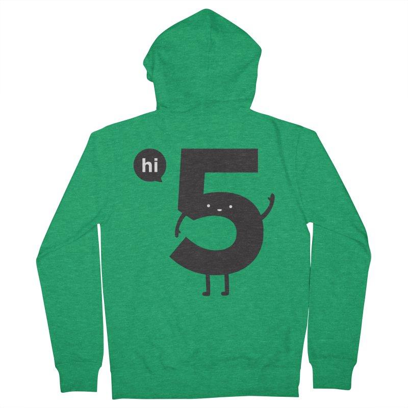 Hi 5 Women's French Terry Zip-Up Hoody by jacohaasbroek's Artist Shop