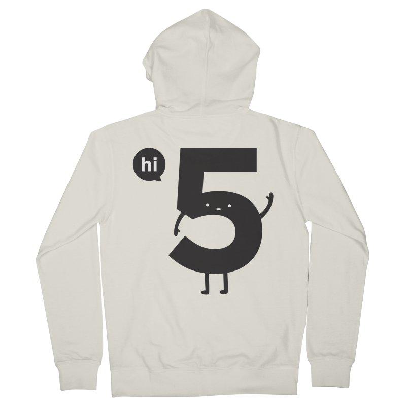 Hi 5 Men's French Terry Zip-Up Hoody by Haasbroek's Artist Shop