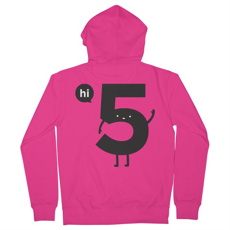 Hi 5 Men's French Terry Zip-Up Hoody by jacohaasbroek's Artist Shop