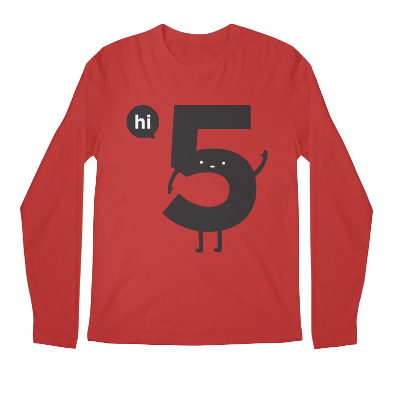 Hi 5 Men's Regular Longsleeve T-Shirt by Haasbroek's Artist Shop