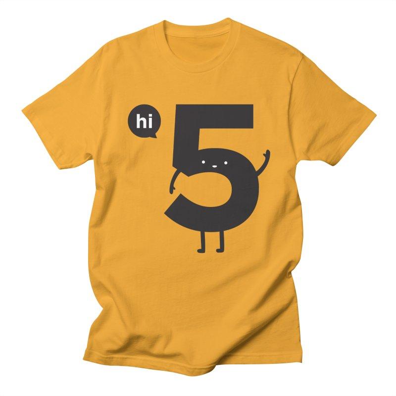 Hi 5 Men's Regular T-Shirt by Haasbroek's Artist Shop