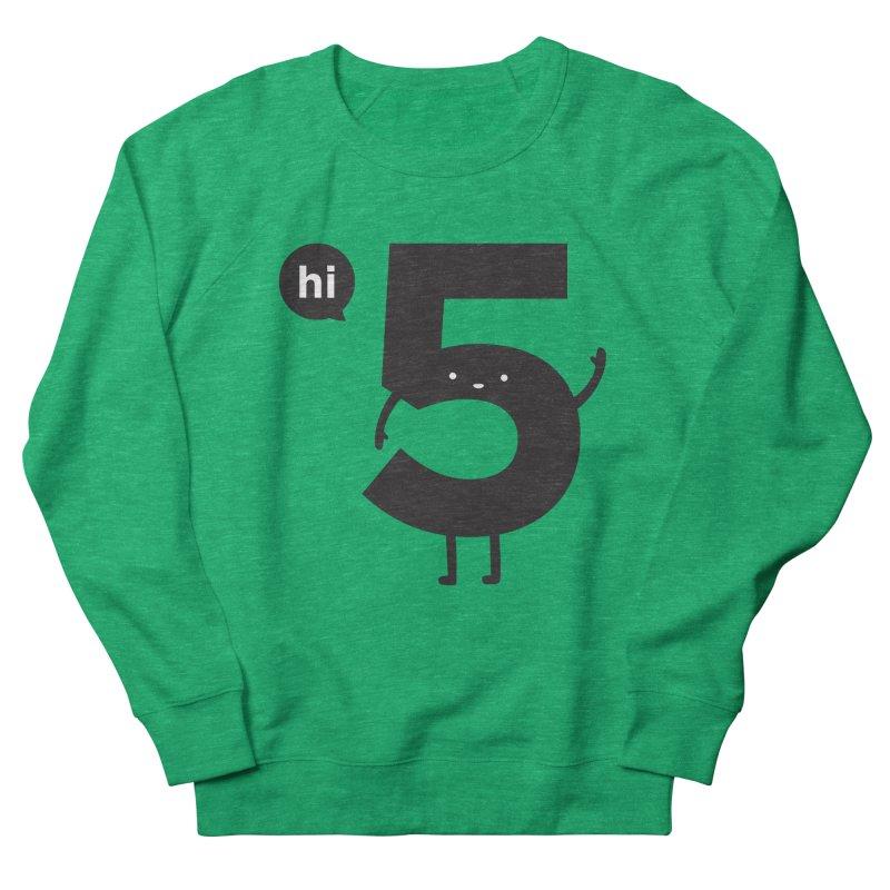 Hi 5 Men's French Terry Sweatshirt by Haasbroek's Artist Shop