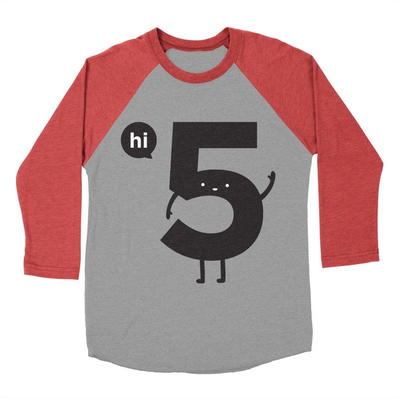 Hi 5 Men's Baseball Triblend T-Shirt by jacohaasbroek's Artist Shop