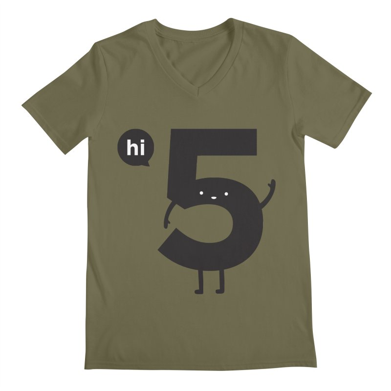 Hi 5 Men's Regular V-Neck by Haasbroek's Artist Shop
