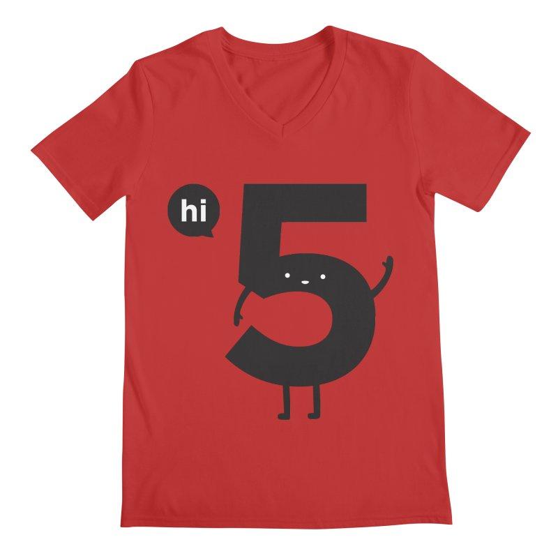 Hi 5 Men's Regular V-Neck by jacohaasbroek's Artist Shop