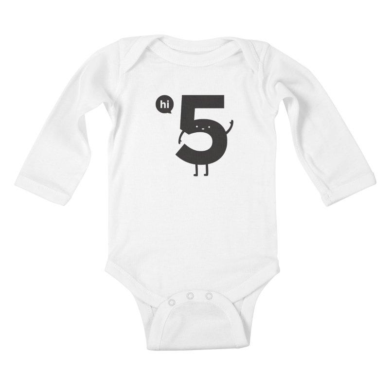 Hi 5 Kids Baby Longsleeve Bodysuit by jacohaasbroek's Artist Shop