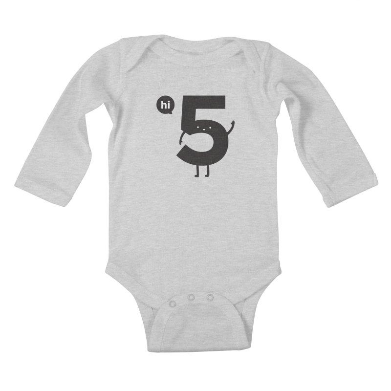 Hi 5 Kids Baby Longsleeve Bodysuit by Haasbroek's Artist Shop