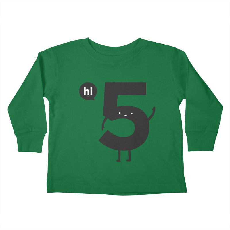 Hi 5 Kids Toddler Longsleeve T-Shirt by Haasbroek's Artist Shop