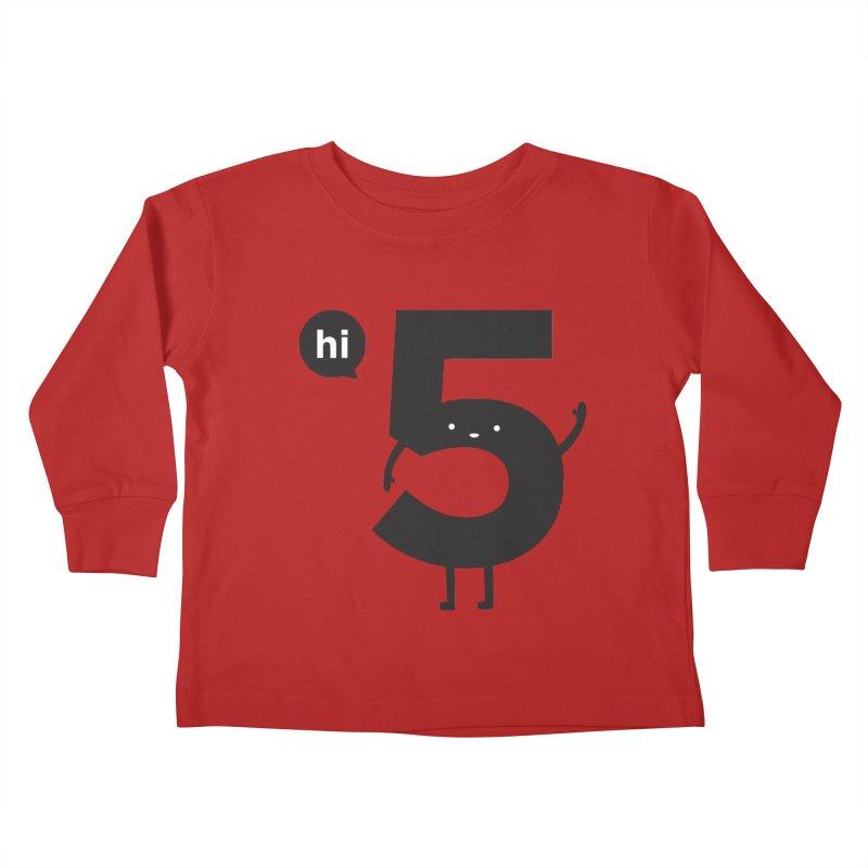 Hi 5 Kids Toddler Longsleeve T-Shirt by jacohaasbroek's Artist Shop