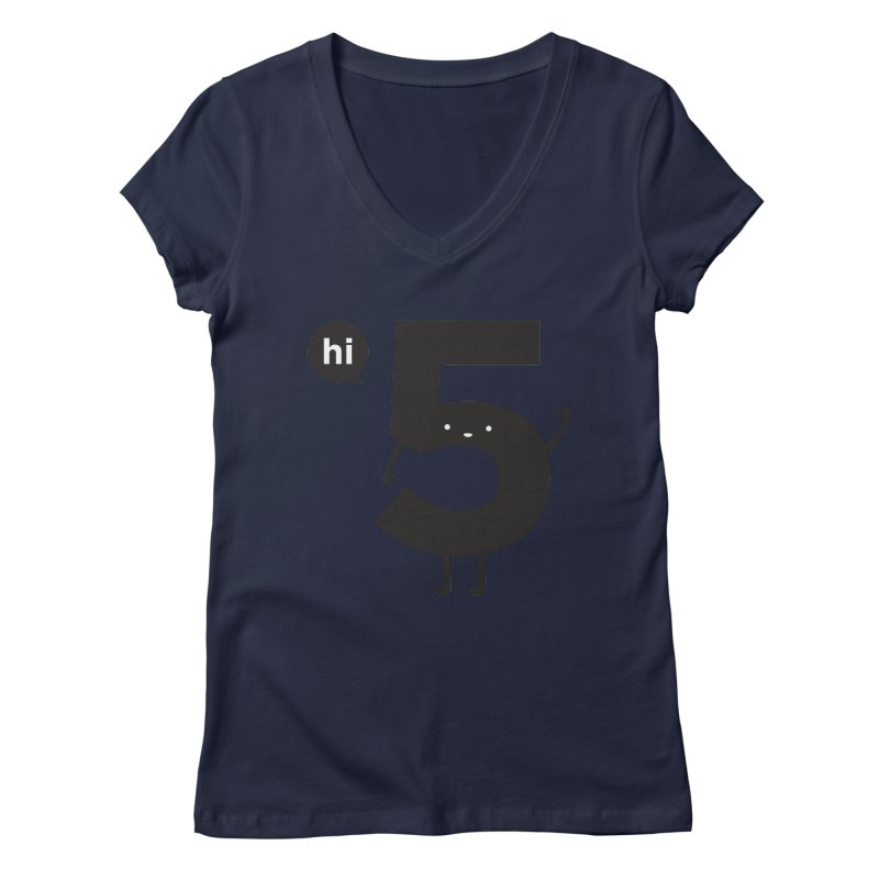 Hi 5 Women's V-Neck by jacohaasbroek's Artist Shop