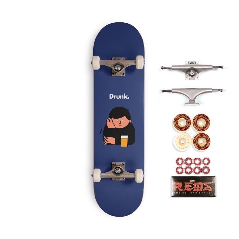 Drunk Accessories Skateboard by Haasbroek's Artist Shop