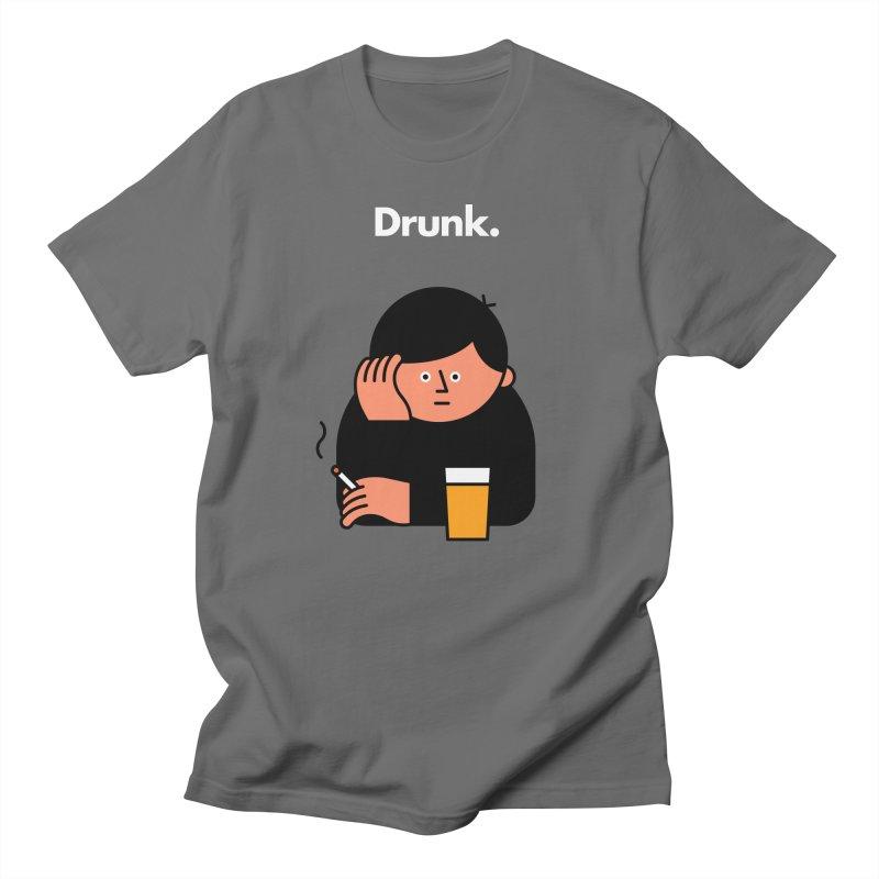 Drunk Men's T-Shirt by Haasbroek's Artist Shop