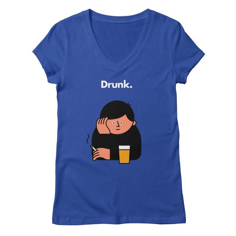 Drunk Women's V-Neck by Haasbroek's Artist Shop