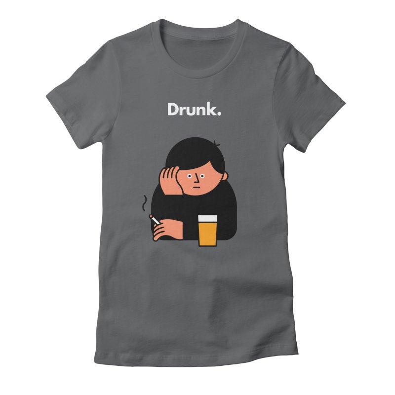 Drunk Women's T-Shirt by Haasbroek's Artist Shop