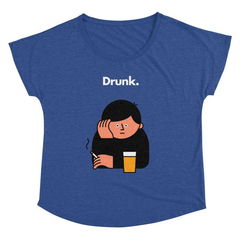 Drunk Women's Scoop Neck by Haasbroek's Artist Shop