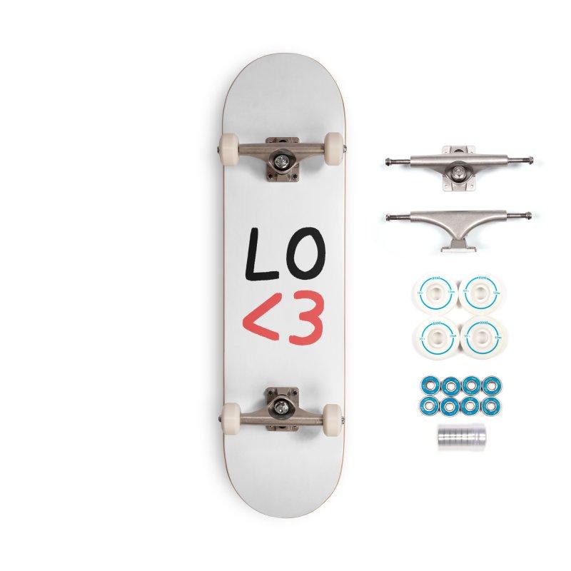 LO<3 Accessories Skateboard by Haasbroek's Artist Shop