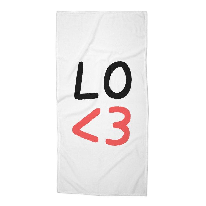 LO<3 Accessories Beach Towel by Haasbroek's Artist Shop