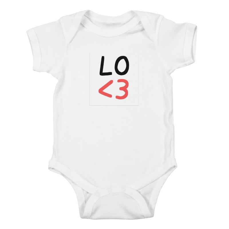 LO<3 Kids Baby Bodysuit by Haasbroek's Artist Shop