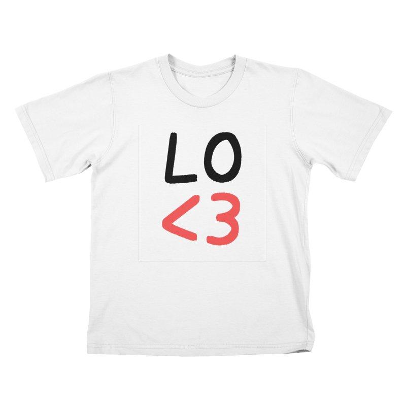 LO<3 Kids T-Shirt by Haasbroek's Artist Shop